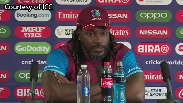 Chris Gayle who had previously said that he would retire after this World Cup has said he will play a Test match and the One-day series against India #Cricket