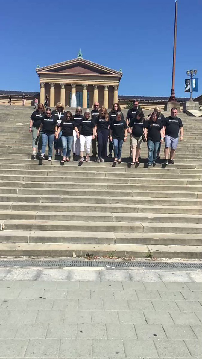 After our #4OCFpln presentation, we all went to the 'Rocky Steps' in Philly! #ISTE19 #ISTE #PLN #PLF