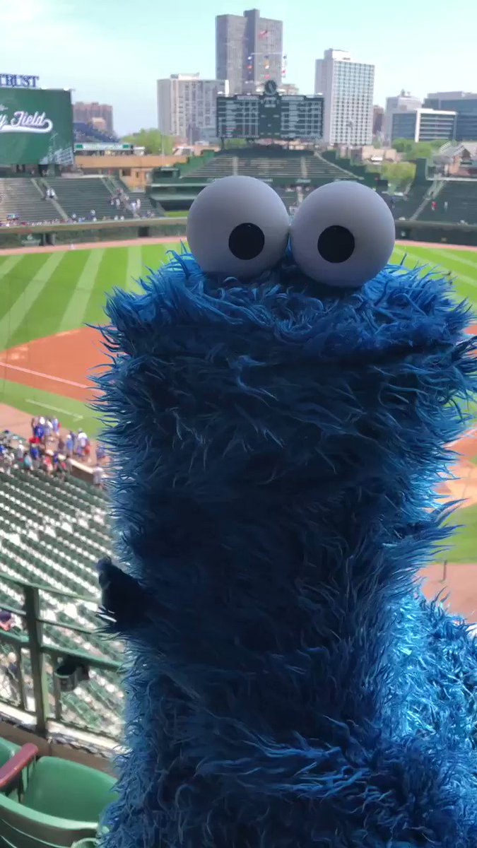 Cookie Monster delivered an iconic performance of 'Take Me Out to the Ball Game' at Wrigley
