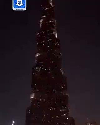 فيديو:برج خليفة يتزين بشعار #الهلال بعد الإعلان عن رعاية إعمار للنادي.