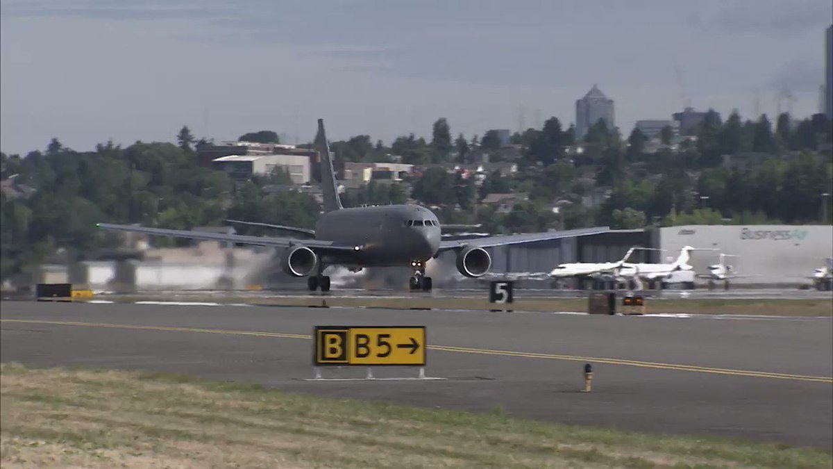 Check out the latest #KC46 tanker delivery to the @USAirForce at McConnell Air Force Base @22ARW.