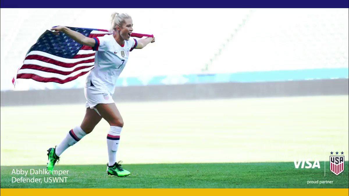 Running into the semi-finals like...   Visa. Proud partner of the U.S. Women's National Team.