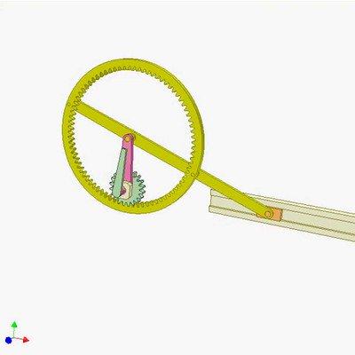 Internal Gear Slider Mechanism