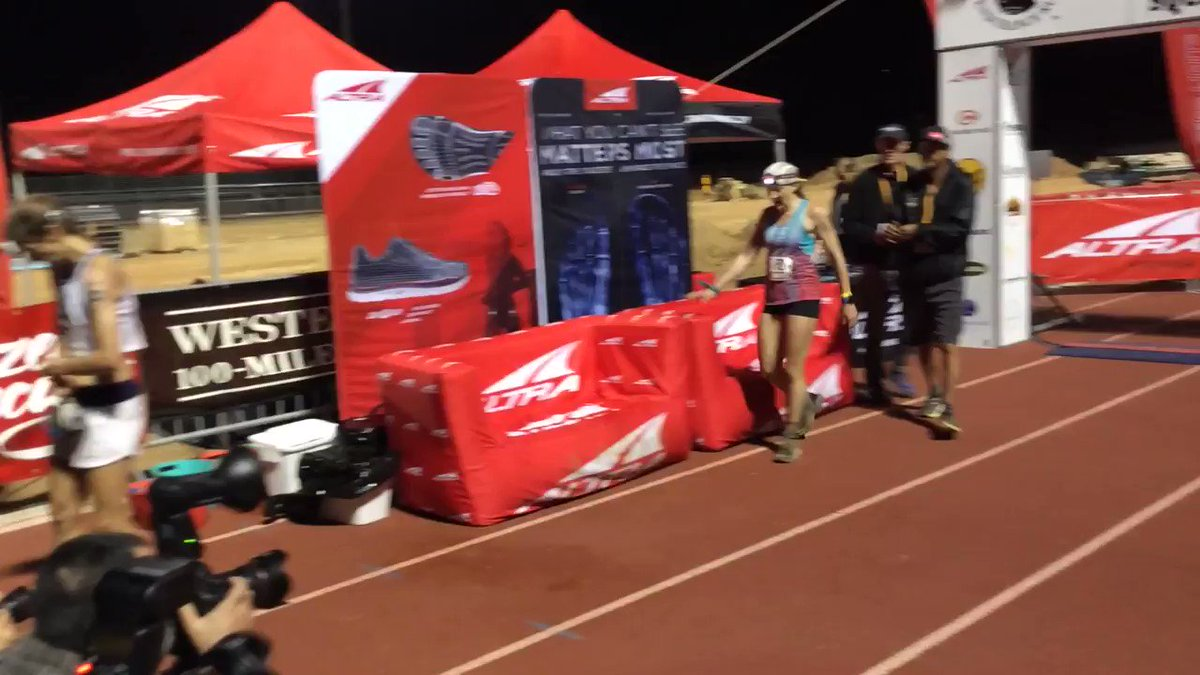 Finishing 6th @kaytlyn_gerbin using @AltraRunning for a soft landing after a final sprint to the line!