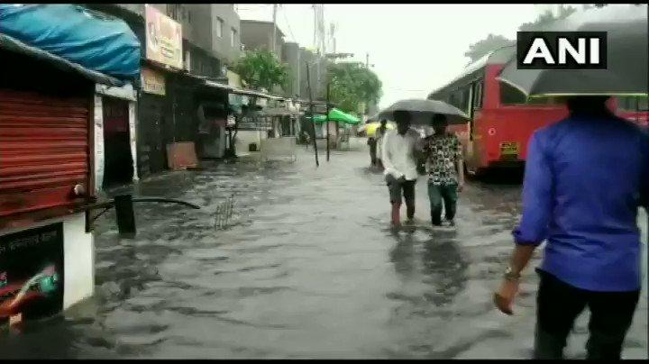 WATCH Maharashtra Waterlogged streets Bhiwandi Thane heavy