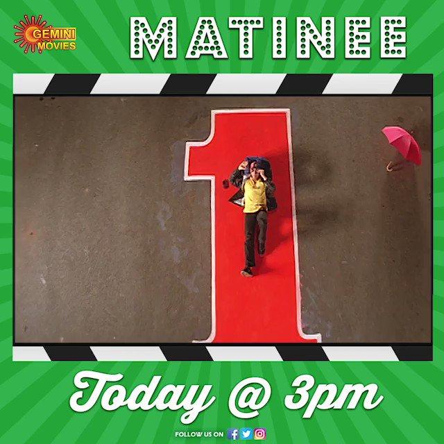 #Superstar @urstrulyMahesh's #Superhit movie #Yuvaraju costarring @SimranbaggaOffc and #SakshiShivanand will be telecasting today at 3 PM on @GeminiMovies.   #PrinceMaheshBabu #Superstar #SimarBagga #MatineeShow #GeminiMovies