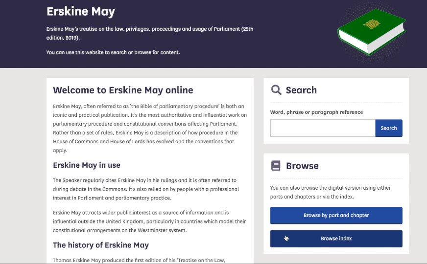 Erskine May: Parliamentary Practice