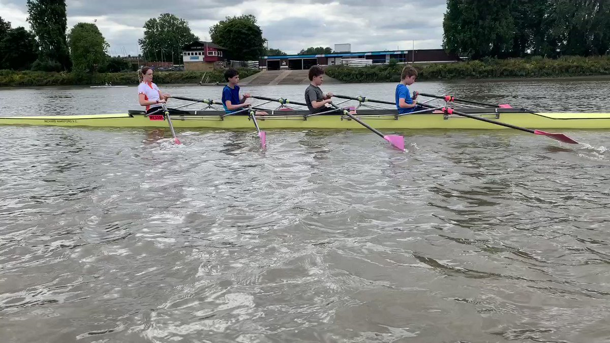 Image for the Tweet beginning: Yesterday our rowing boys got