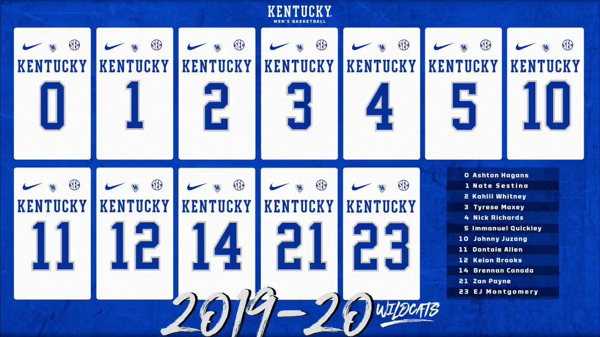 Kentucky Basketball Announces Players' New Jersey Numbers