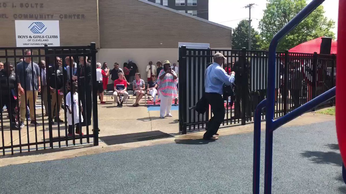 Renovated Doby playground opens in Cleveland