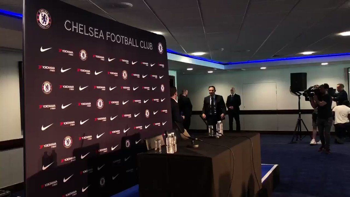 Frank Lampard has arrived for his first Chelsea press conference... #WelcomeHomeFrank