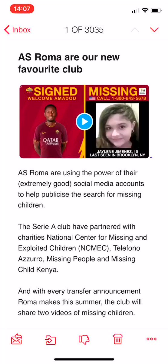 Our weekly email just went out, featuring: 🔘 @umbro winning the summer 🔘 @Killa_Villa_ making us hungry 🔘 @ASRomaEN doing nice things 🔘 @mPinoe being extremely great 🔘 And other stuff you'll enjoy Subscribe on the website box2boxfootball.com