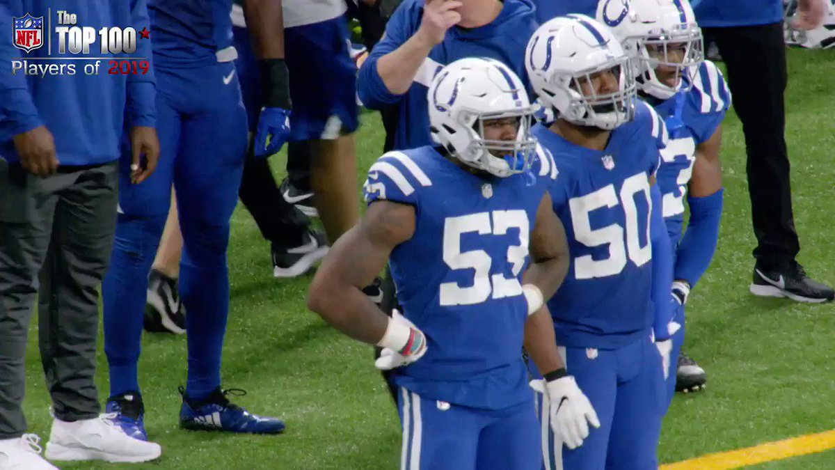It only took 1 year in the league for @dsleon45 to establish himself as a leader on the @Colts, and as one of the top defenders in the AFC. #NFLTop100 premieres July 22nd on @nflnetwork.