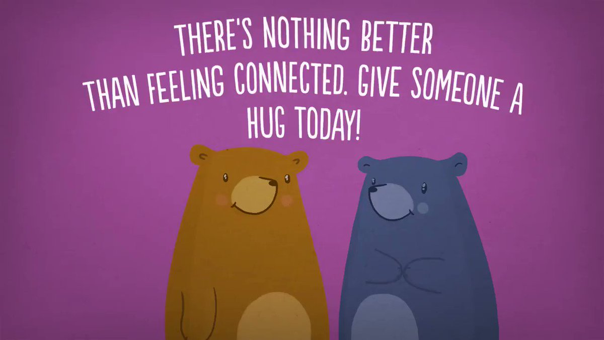 Image for the Tweet beginning: Hugging is universally comforting and