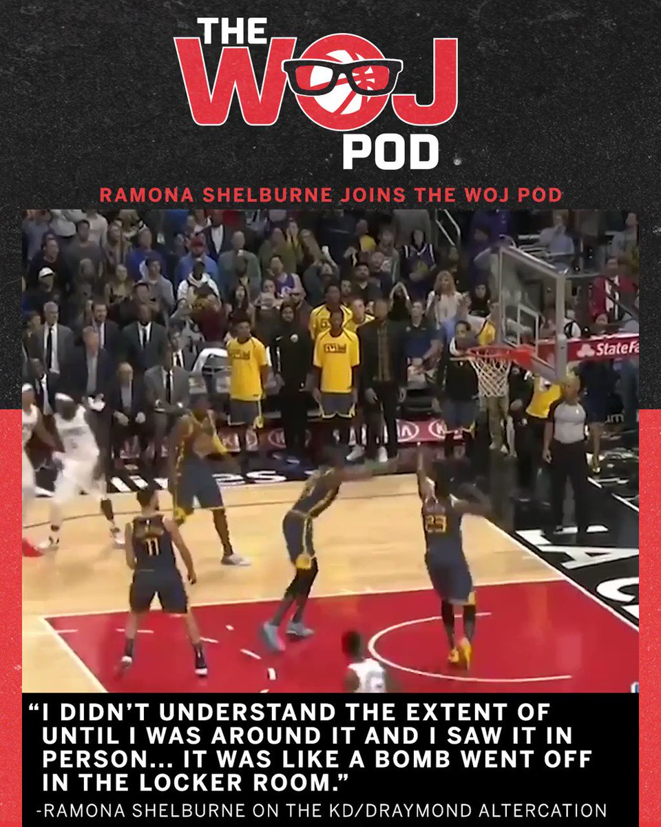 The Woj Pod: @RamonaShelburne on the dynamics of KD's final season with the Warriors.