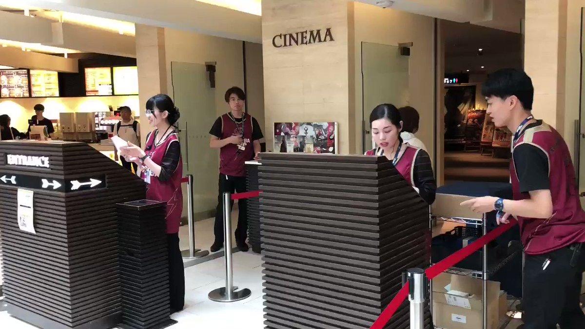 『OVER TIME』まもなく公開📽 チネチッタのスタッフの皆さんも、ユニフォームを着ていただいています😊 #川崎ブレイブサンダース