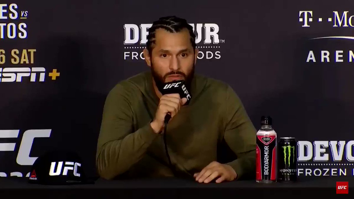 I put on a blanket after I heard Jorge Masvidal's post-fight press conference. The man's cold. #UFC239