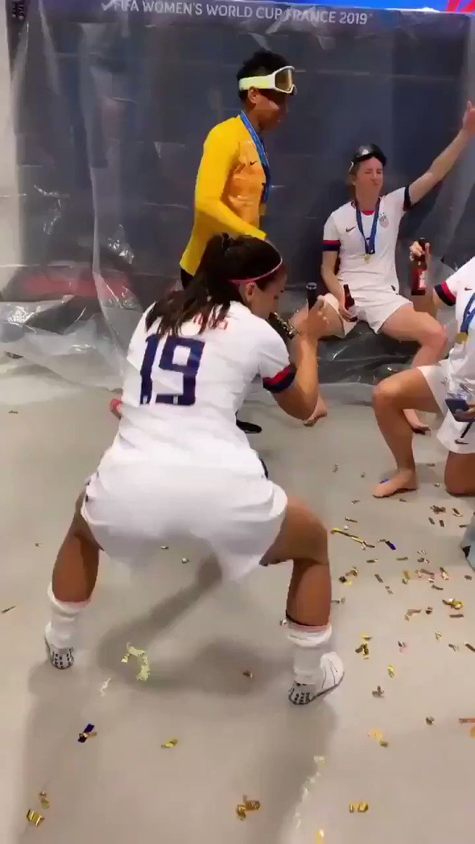 Video Of Alex Morgan Dancing In Locker Room After Win Going Viral