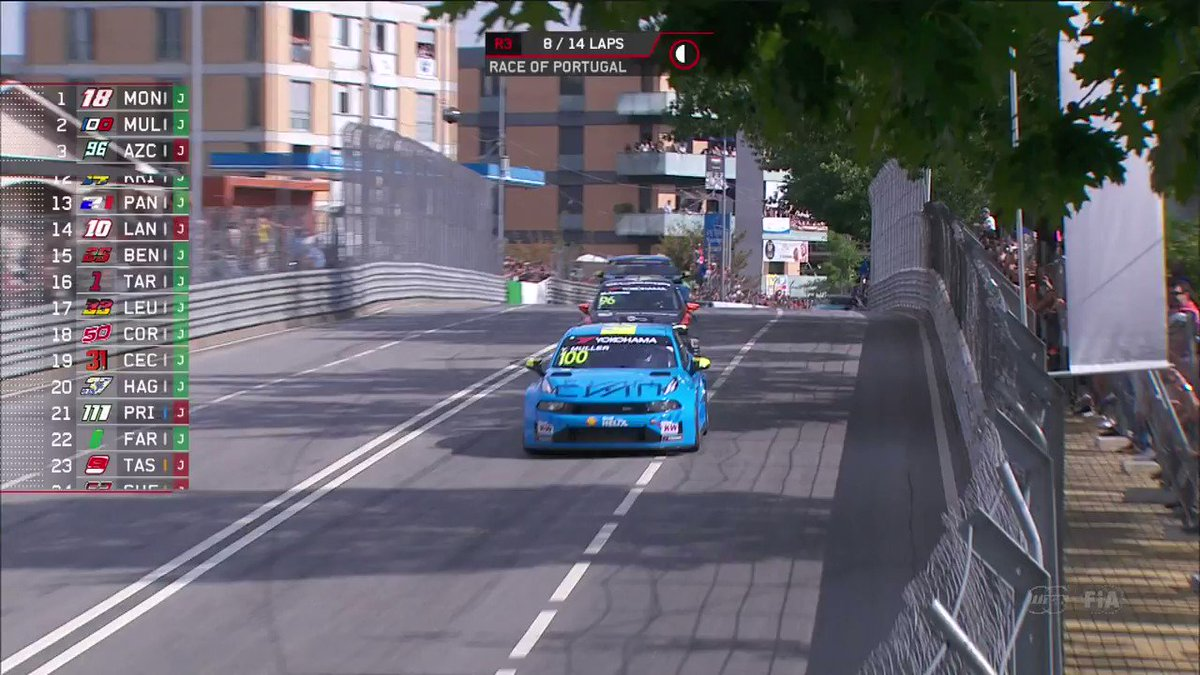 📺 This is how @YannEhrlacher 🇫🇷 got third 🥉 place in the final @FIA_WTCR race of the Portuguese weekend! 🇵🇹 #LynkCo #CyanRacing #WTCR