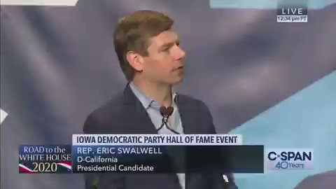 This is the moment Eric Swalwell became president