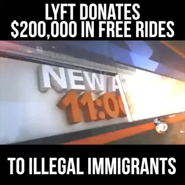 Lyft has donated $200,000 in free rides to help illegal aliens get to and around the United States.  Why doesn't Lyft give free rides to work for Americans who don't have a car, or free rides to the VA for homeless Veterans?