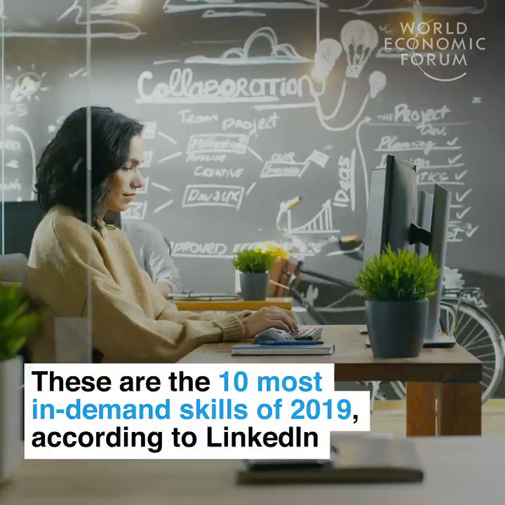 The 10 most in-demand skills of 2019 according to @Linkedin: 1. Creativity 2. Persuasion 3. Collaboration 4. Adaptability 5. Time management 6. Cloud computing 7. AI 8. Analytical reasoning 9. People management 10. UX design