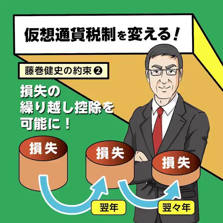 仮想通貨税制を変える!藤巻健史の約束②損失の繰り越し控除を可能に!※全国比例(2枚目の投票用紙)は✕日本維新の会ではなく〇藤巻健史とお書きください。※全国どこからでも投票できます。#仮想通貨