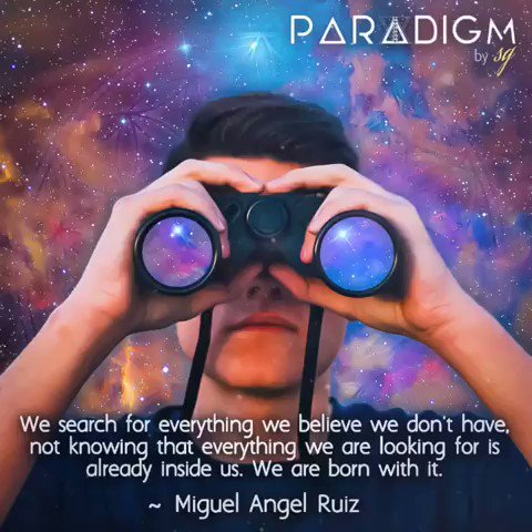 """""""We search for everything we believe we don't have, not knowing that everything we are looking for is already inside us. We are born with it."""" - Miguel Angel Ruiz ....So true. It's called love.💖💕"""