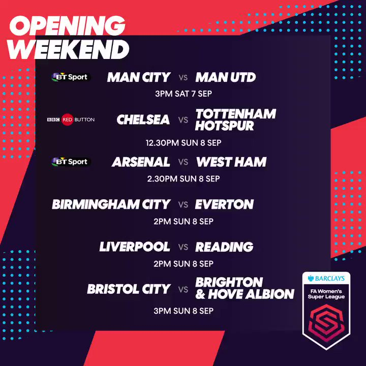 Now we're really excited! The 2019/20 #FAWSL fixtures, all in one place 👉the-fa.com/EPkmru