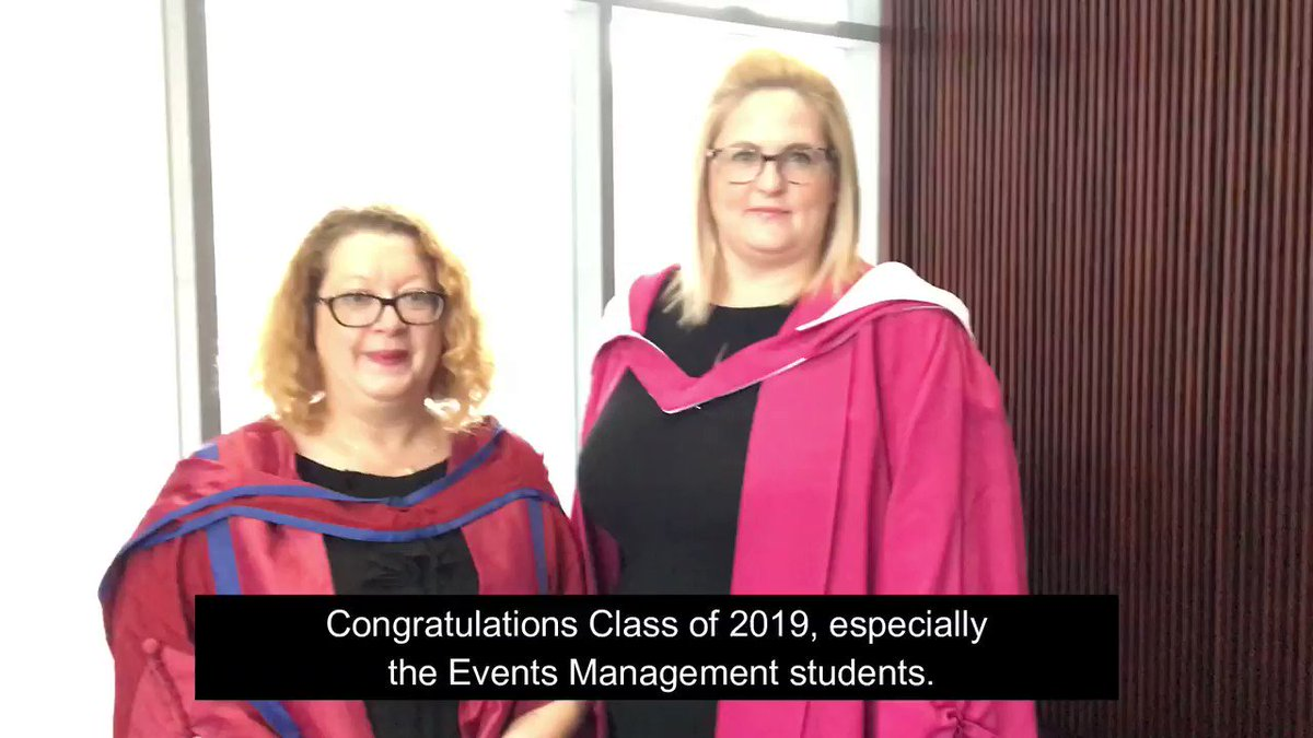 Dr Rebecca Finkel and Dr Gemma Blackledge-Foughali wish all the students from @QMUEventsMgmt a very happy graduation day! 🎓 #QMUgrad2019 #QMU #ClassOf2019 #QueenMargaretUniversity #Edinburgh