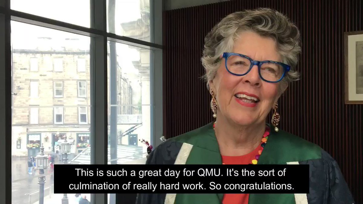 The celebrations for #QMUgrad2019 are still in full flow, but we'll leave you with these words from our Chancellor @PrueLeith who sums it up best: #Respect 🙌 #ClassOf2019