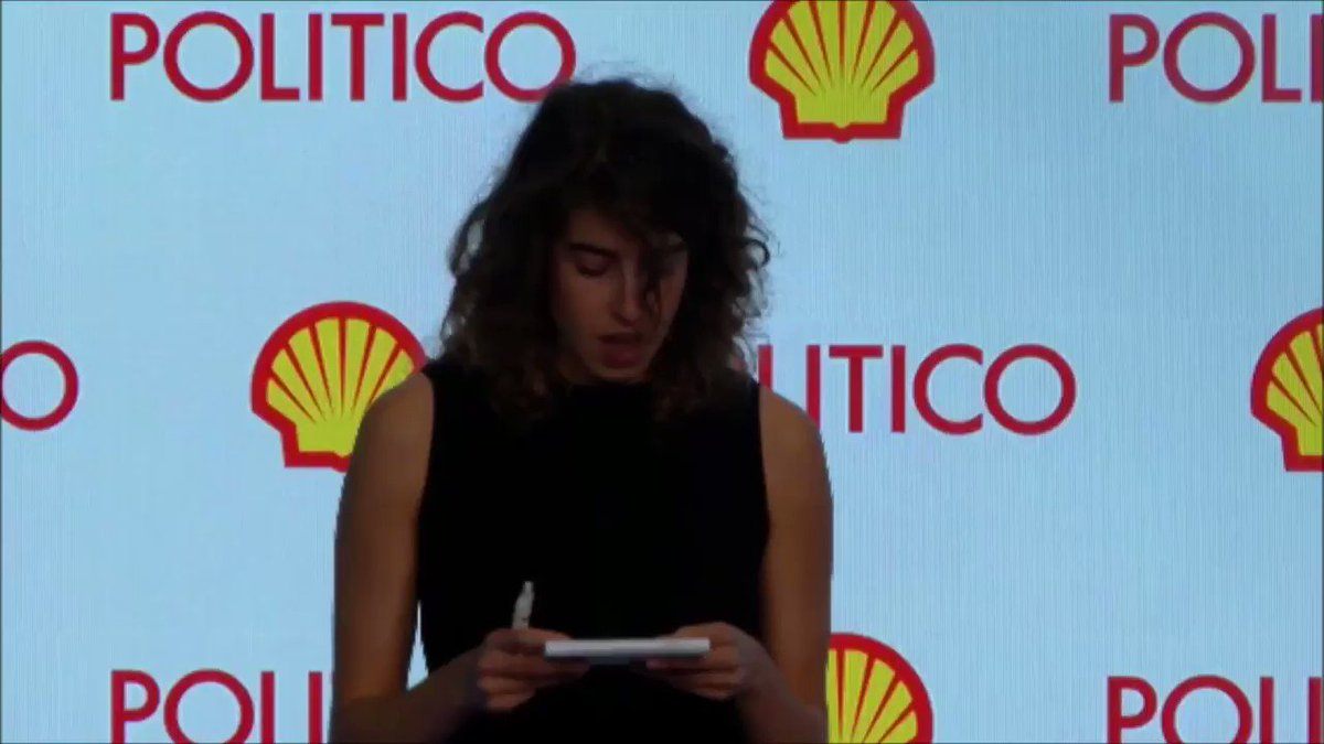 Media must tell the truth about #ClimateBreakdown @POLITICOEurope held a climate event, sponsored by @Shell, attended by EU climate commissioner @MAC_europa We had a little surprise for them when the Shell CEO gave his speech... #EnergyVisions #JoinTheRebellion