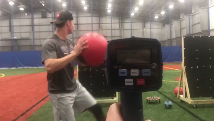 That's another program PR —   #MedBalls #PRPBaseball   Read more about why we do med balls and how it correlates with our data here —> https://www.prpbaseball.com/blog/2018/6/27/thecorrelation-between-med-ball-and-positional-velocity …