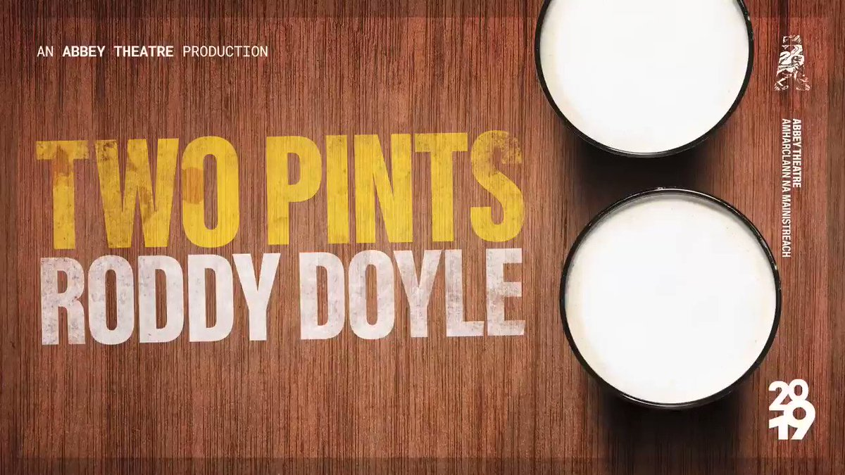 🎭Competition Time 🎭 Here we go again!!  Pre- Theatre Dinner for 2 at The Church Café, Late Bar & Restaurant + 2 Tickets for Roddy Doyle's 'achingly, breathtakingly funny' Two Pints at the Abbey Theatre 🍻  ***RT TO ENTER!***