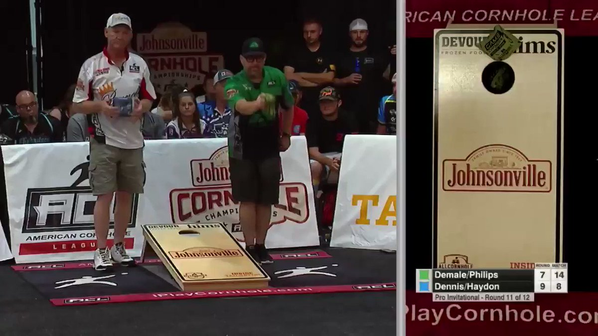 This is pure greatness by Daymon Dennis. Sniper status!  @iplaycornhole #ACL