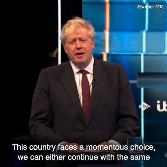 This election comes down to a simple choice: change, or more of the same.  More of the same means Brexit further delayed. Change means leaving the EU on 31st October, deal or no deal, so we can begin to unite our country and defeat Jeremy Corbyn  👉 http://backboris.com