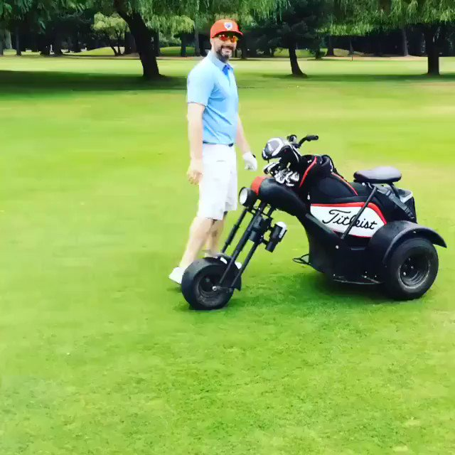 Golf carts are soooo last year😍🏍Loving this new way of getting around on the golf course! #golfcart #golffun #lovegolf #growthegame #playgolf #fortheloveofit #outdoors