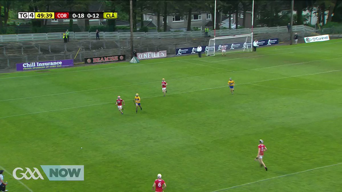 Shane O Regan with a ridiculous catch and an even better finish for @OfficialCorkGAA.