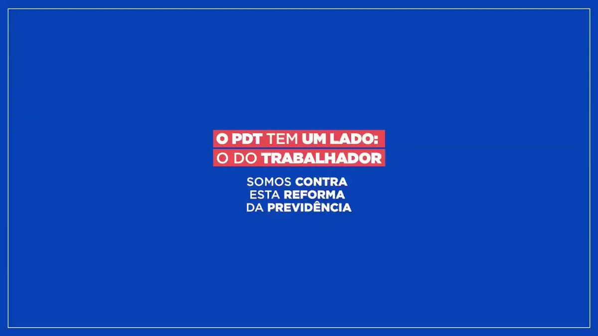 Quem quiser o lado dos banqueiros, que vá para o lado de lá. O Trabalhismo Brasileiro, desde Getúlio Vargas, é para defender o trabalhador, o pobre, a classe média. Esta reforma da previdência é nefasta!