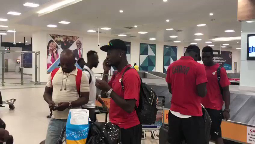 The Black Stars have arrived in Accra after exiting from the 2019 AFCON #TOTALAFCON2019 #BLACKSTARS