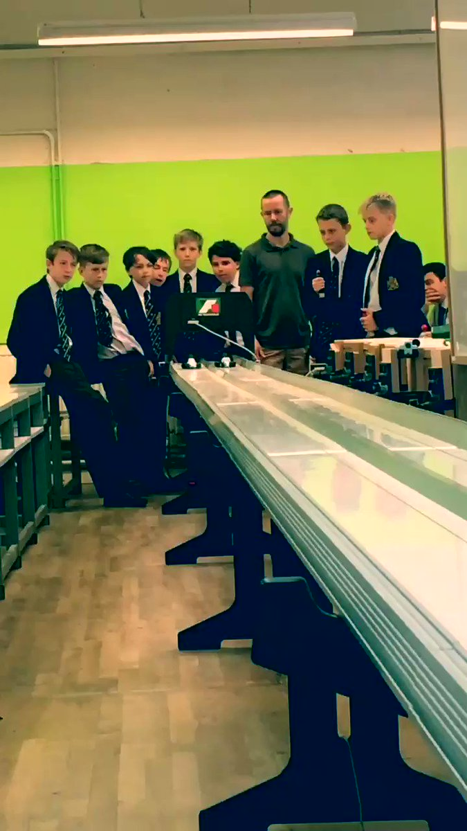 The F1 challenge in full swing.  A great test of the boys' designs and speed of reaction.