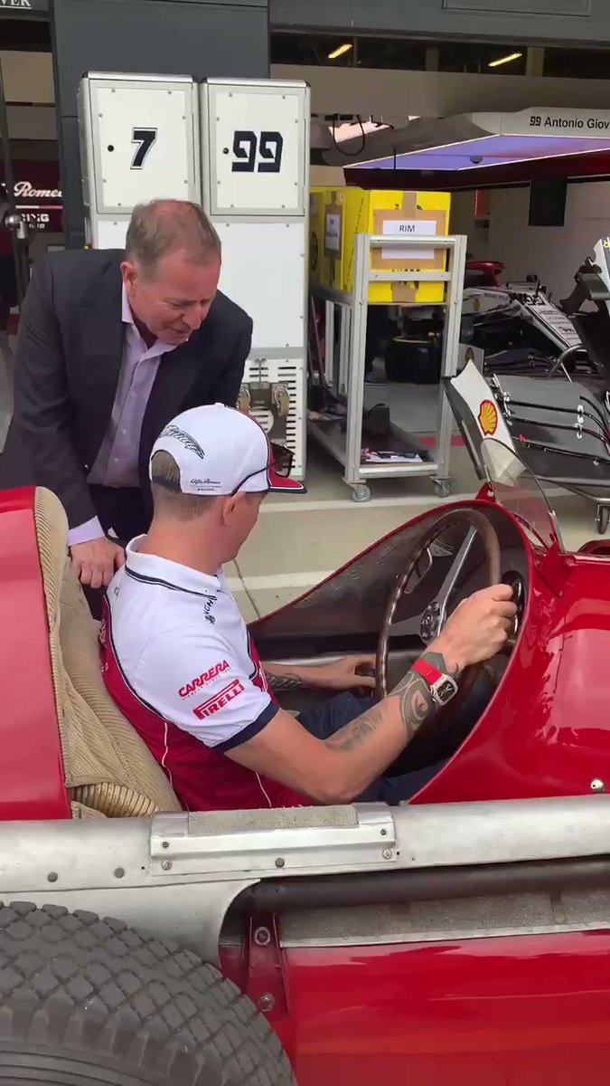 As cockpits go, this is far from the usual fare... 🚗   #BritishGP #Alfetta #Kimi7