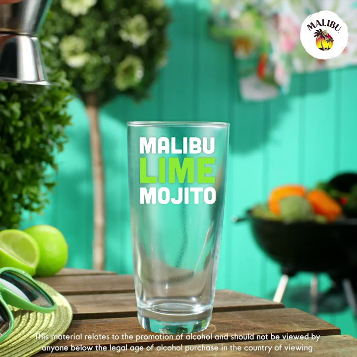 one sip of #MalibuRum Lime Mojito = an uber pool(side) transport to the tropics🍹Happy #NationalMojitoDay