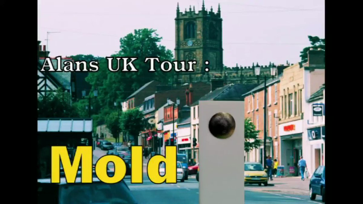 Alans UK Tour: Mold.. It could have been worse. pic.twitter.com/d5xtt1riWf #mold #wales #movie #film #voice #stopframe #holiday #summerholiday #animation #gif #meme #animated #animationclip 3