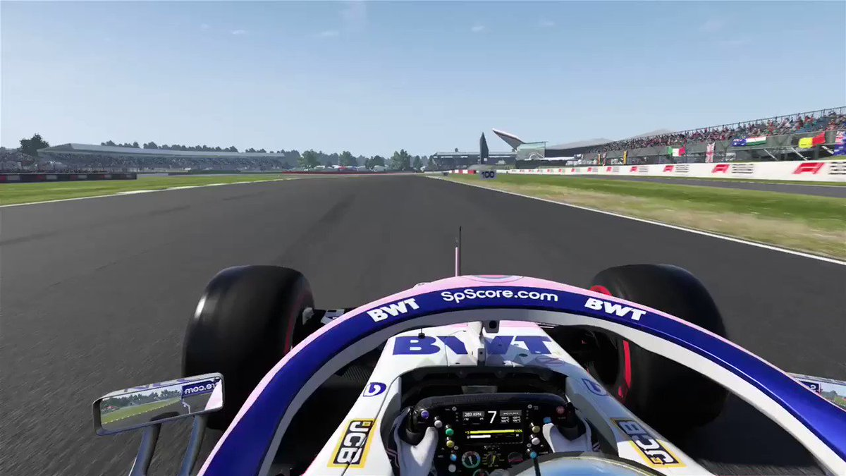 Get ready for FP1 tomorrow and jump onboard in my virtual @SportPesa @eRacingPointF1 car for a lap around the home of F1 racing - Silverstone!   #MakeItCount #F1Esports
