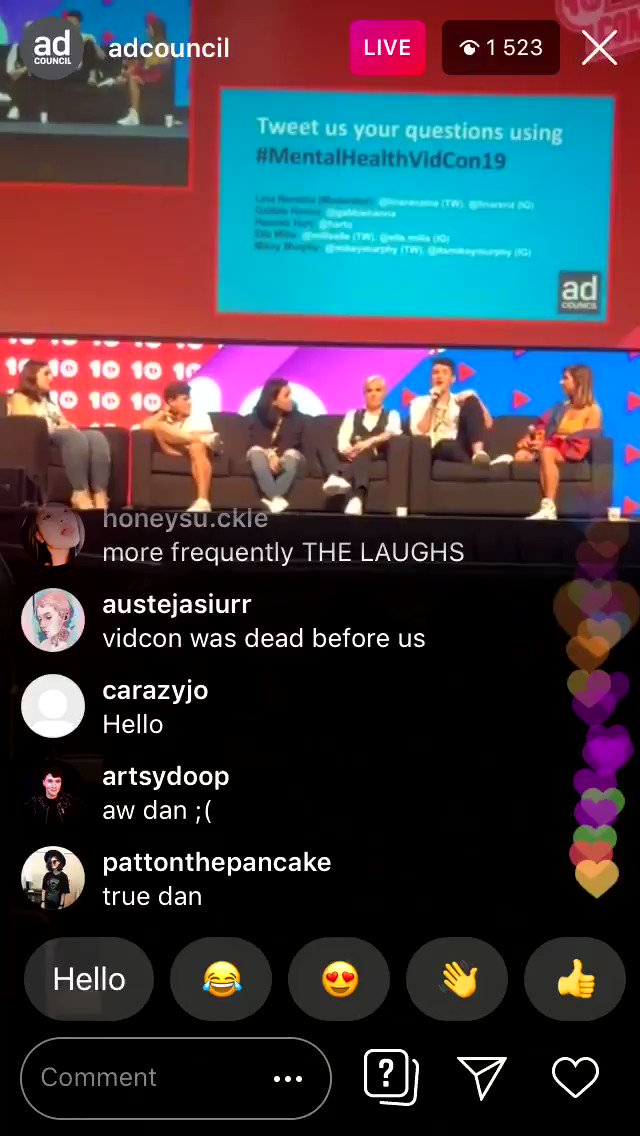 i will make these noises as my ringtone i'm not even kidding #VidCon2019