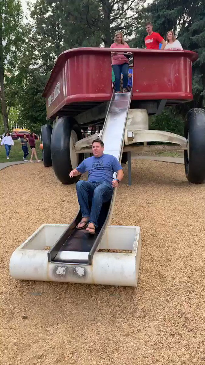 Can't forget @sheehyrw and his attempt on the giant slide #PrincipalsInAction #NAESP19