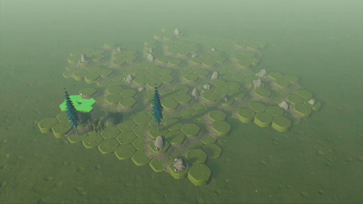 Im having fun updating my map editor to use ECS and jobs. So far Im really impressed with how much smoother terrain placement is, even on big maps. 🌳🌴🌲 🙌 #madewithunity #indiedev #indiegames #mapeditor #indiegame #gamedev #dnd