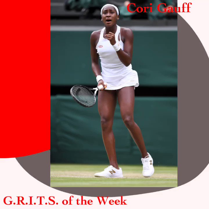 #GRITSoftheWeek goes out to the  remarkable young lady, #CoriGauff. The 15 year old southerner made history this week at #wimbeldon after she advanced all the way to the 4th round before being eliminated by #SimonaHalep. Gauff is the youngest to advance at Wimbledon since 91'. https://t.co/9tp7k7XEja