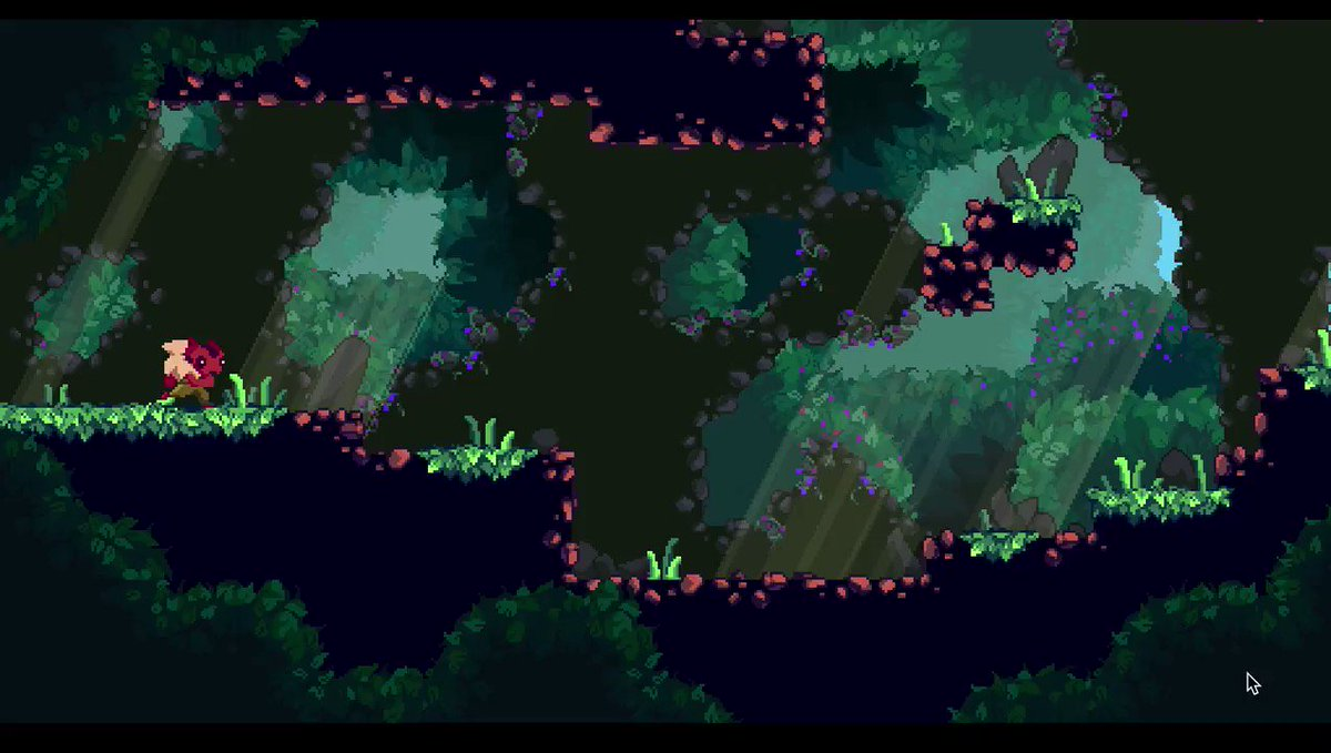 Testing little Enu's run animation. Still WIP though. Everything #madewithunity  #gamedev #pixelart #indiedev #indiegame